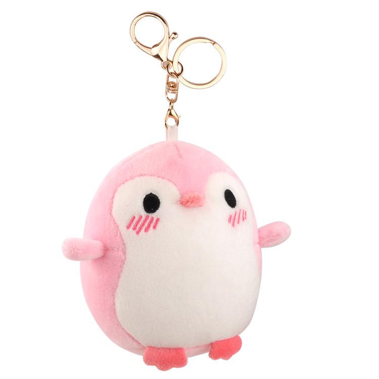 Super Soft Small Penguin/Polar Bear Plush Keychain for Bag Accessories