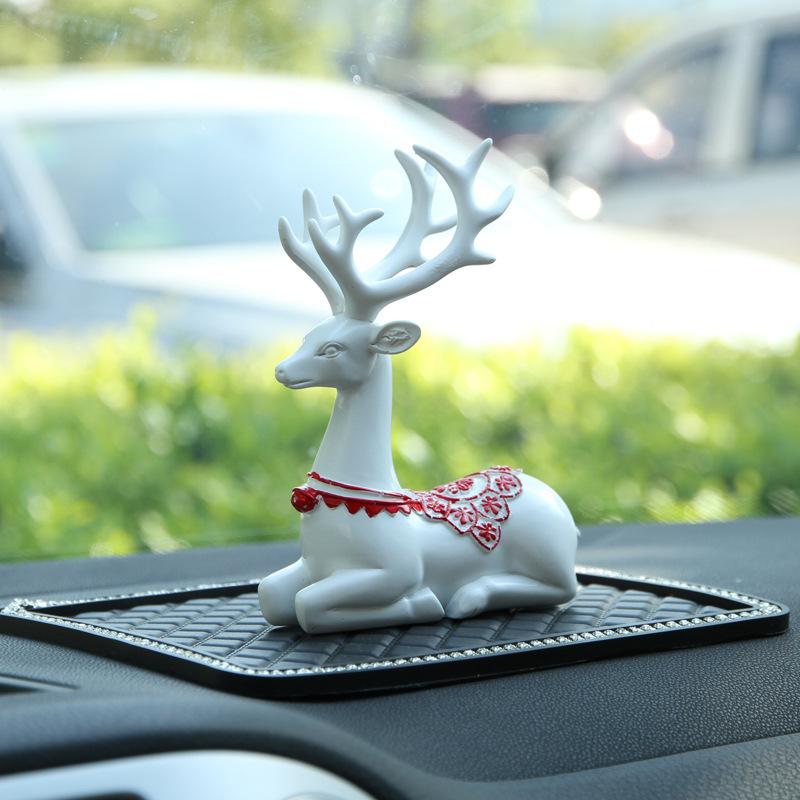 Amazing Sitting Dear Car Dashboard Decor for Organizing Hanging Necklaces