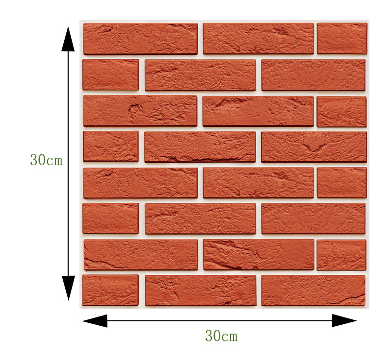 Simple Stone Brick Wall Sticker for Living Room Decoration