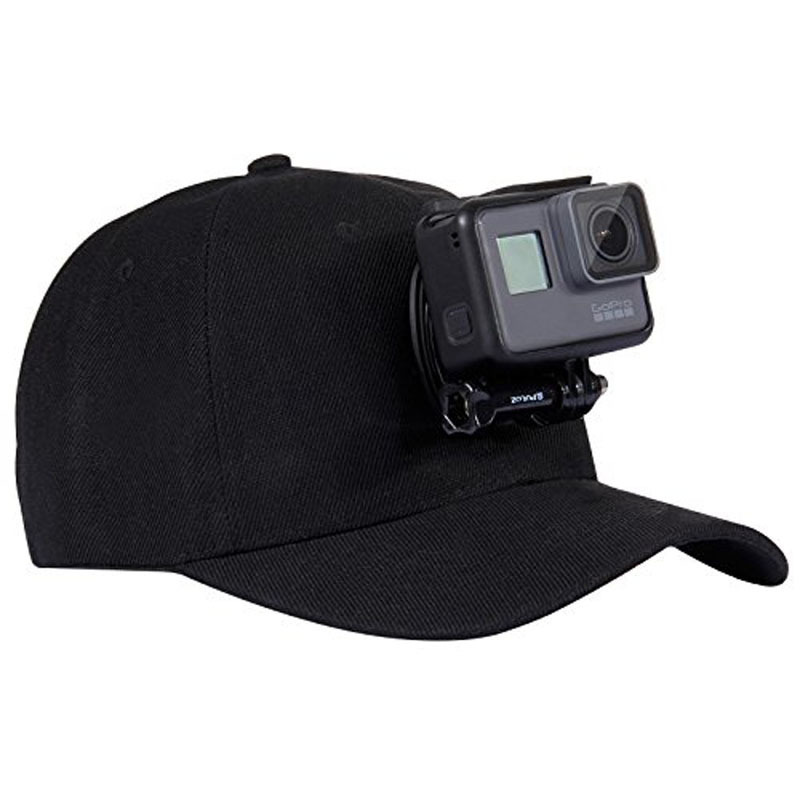 Unique Black Camera Baseball Cap for Outdoor and Travel Use