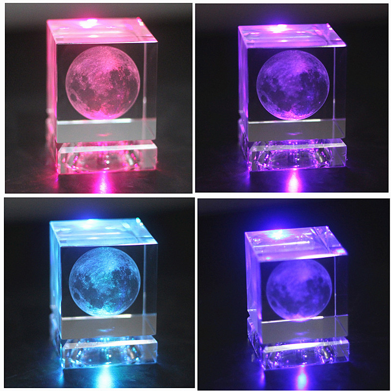 Imaginative Moon on Crystal Box for Valentine's Day Gifts