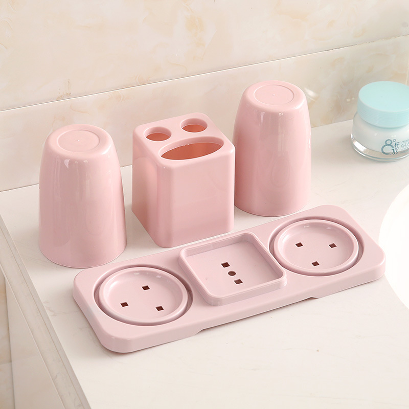 Basic Toothpaste and Toothbrush Holder with Cup for Keeping the Bathroom Organized