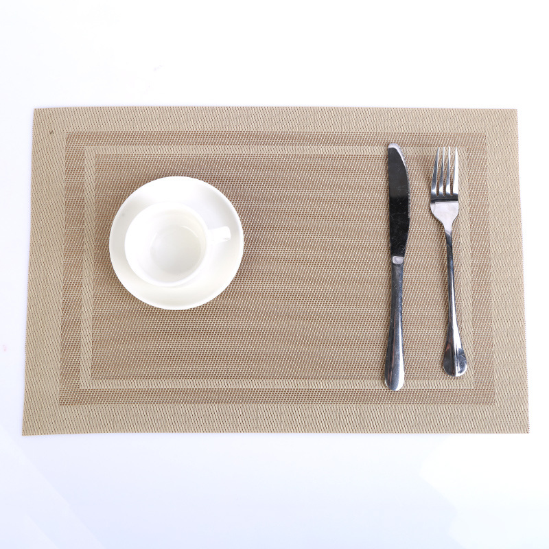 Elegant Woven PVC Placemat for Formal Dinners