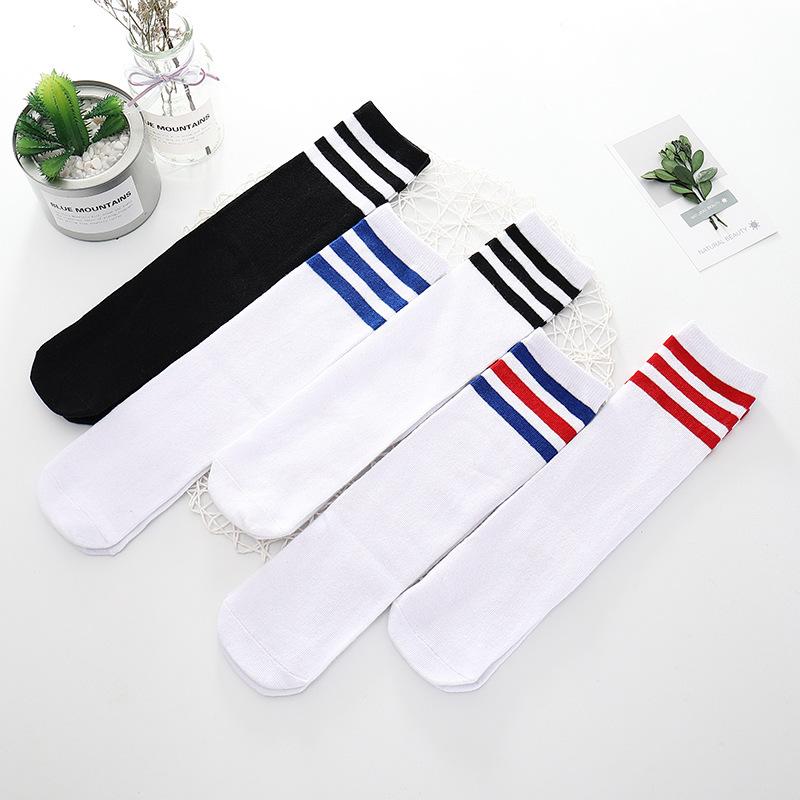 Three-Bar Stripes Knee Children Socks for Schooling