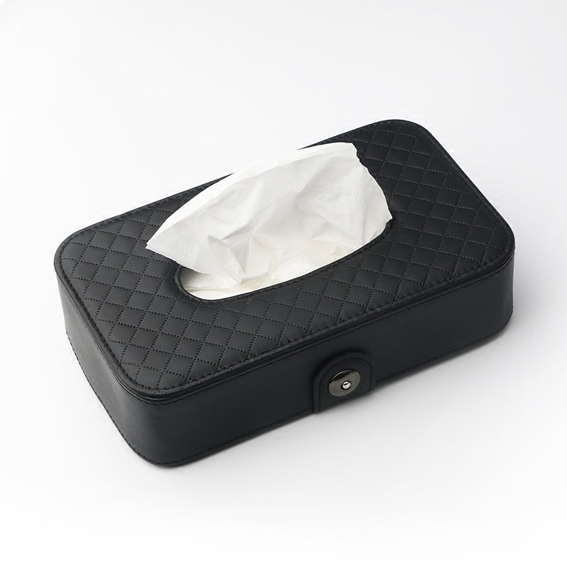 Leather Tissue Box for Cars
