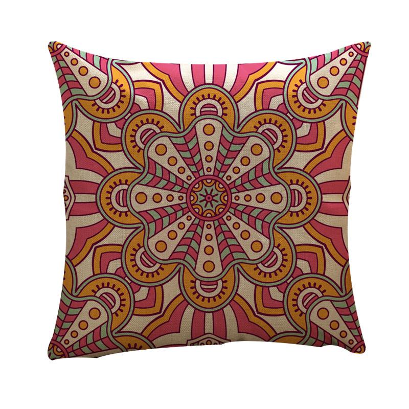 Geometric Linen Pillow Cover for Sofa