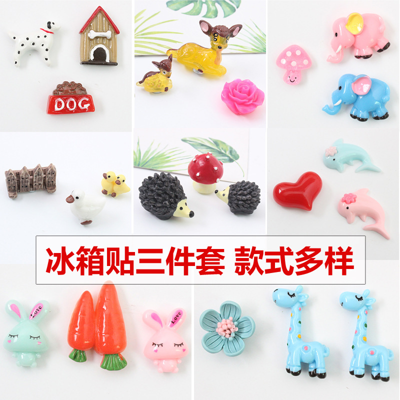 Colorful Animals Resin Magnets for Zoo-Themed Rooms
