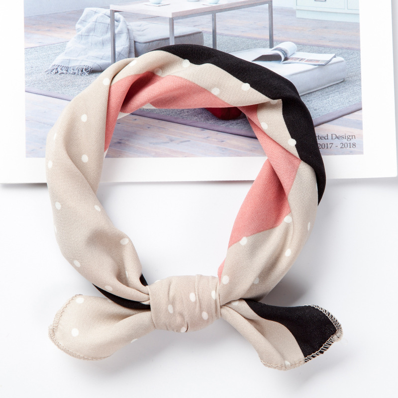 Appealing Artificial Silk Napkin Style Scarf for Headband Trends