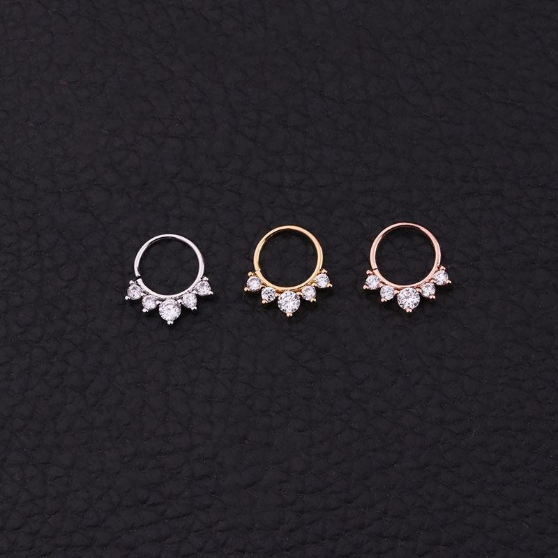 Margie Polished Faux Zircon Nose Ring for Glossy Accessory
