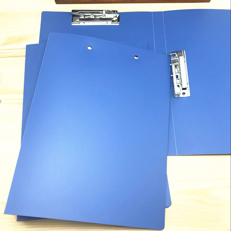 Blue A4 Plastic Folder with Dual Metal Fastener for Files