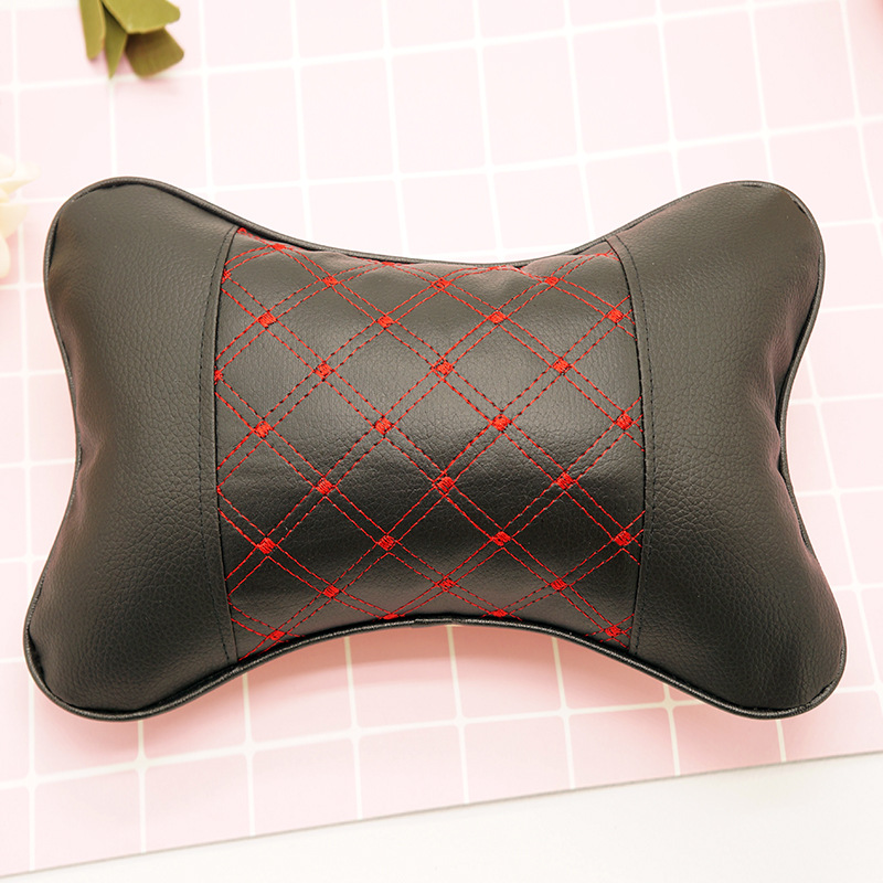 Breathable Leather Car Headrest Pillow for Long Ride