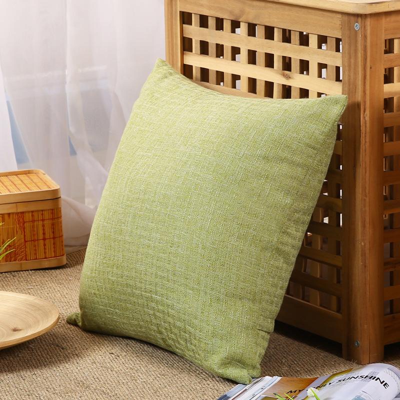 Plain Color Pillow Core and Case for Office Naps