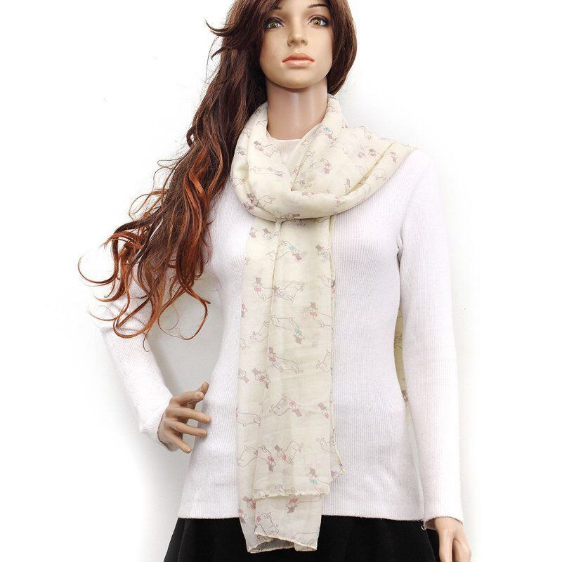 Silky Scarf with Beautiful Animal Prints for Ladies