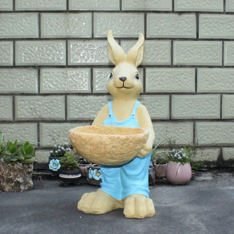 Adorable Rabbit Succulent Resin Pot for Table Setting