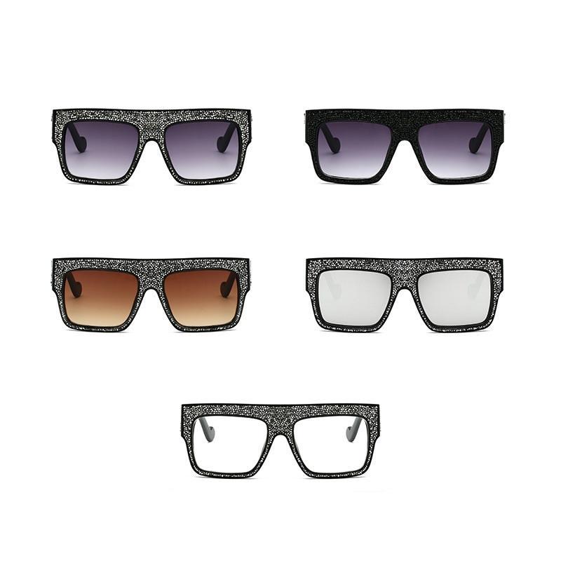 Glittery Shield Sunglasses