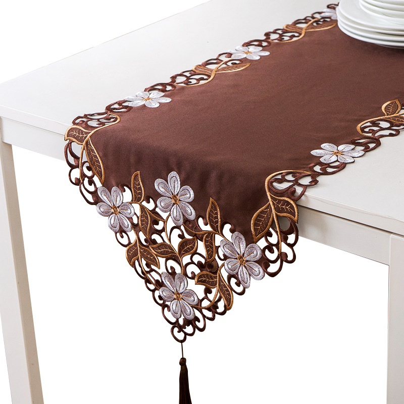 Multicolor Rectangular Embroidered Tablecloth for Home Tables