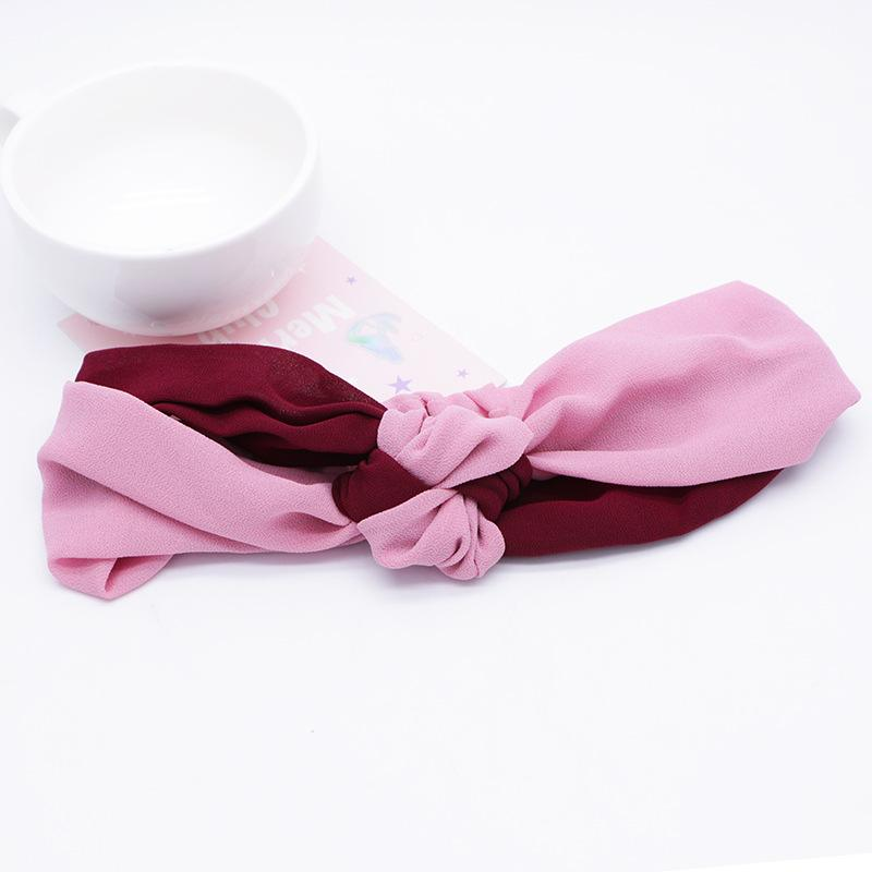 Two-Color Satin Knotted Headband