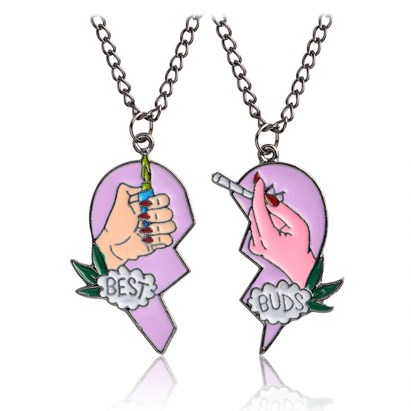 BEST BUDS Broken Heart Pendant Necklace Set for Matching with Your Best Friends