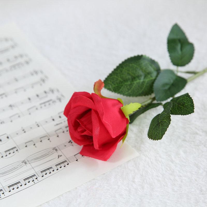 Shanya Single Stem Silk Rose Flower