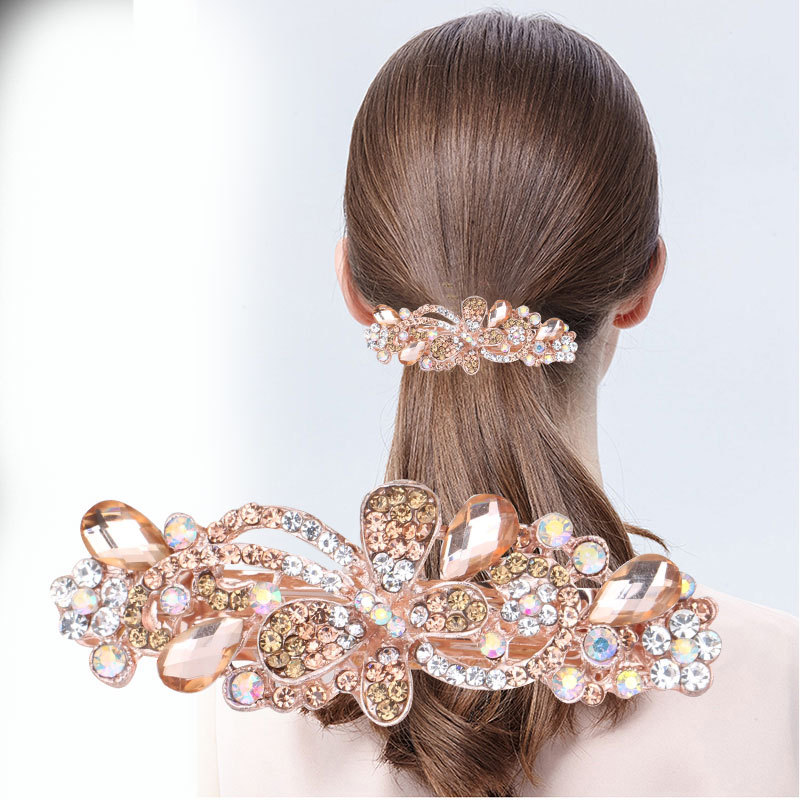 Beautiful Artificial Stones Hair Clip for Easy Hair Clipping