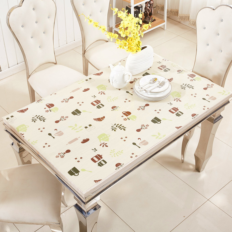 Soft Waterproof Rectangular Tablecloth for Home