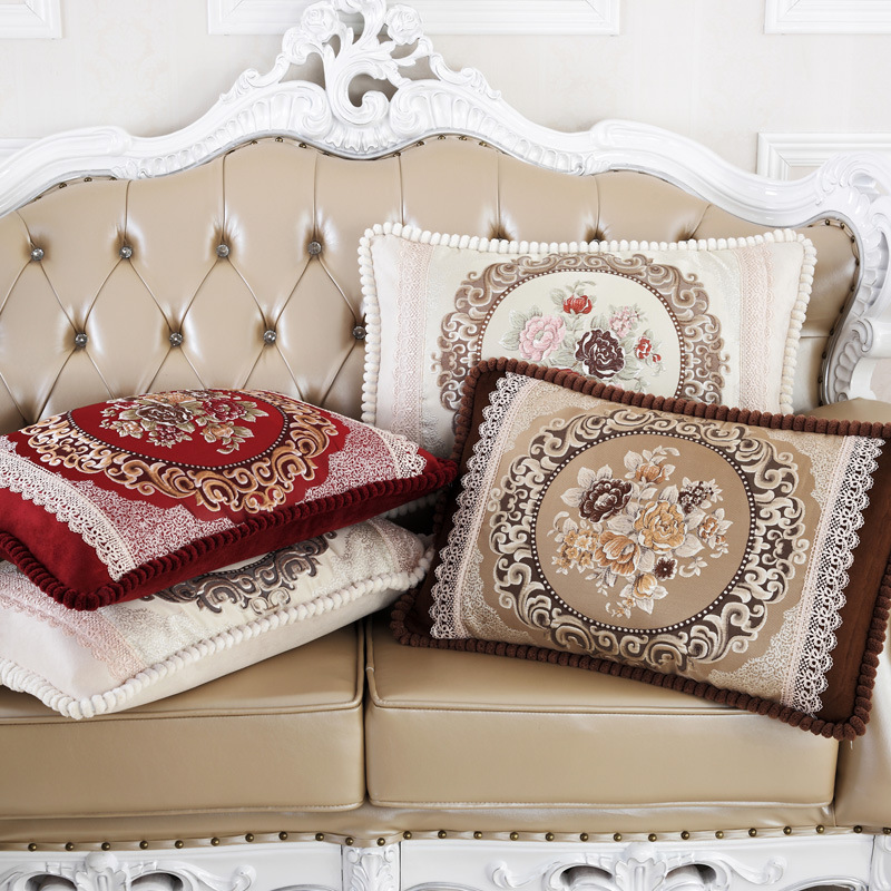 European Royalty Floral-Themed Embroidered Pillowcase for Luxury Feel and Home Improvement