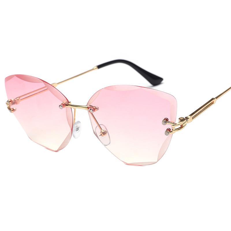 Frame-less Cat's Eye Sunglasses