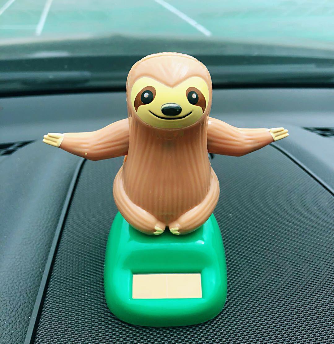 Pleasant Sloth Designed Small Ornaments for Car Decoration