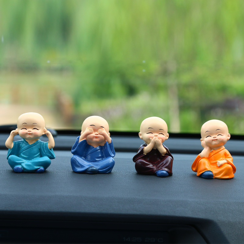 Cherubic Baby Monks for Car Interior Decoration