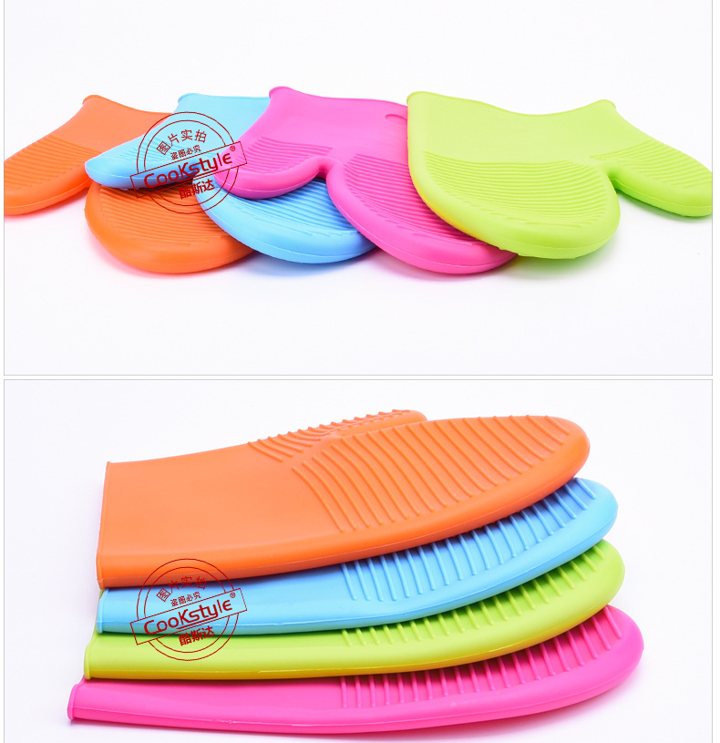 Colorful Heat Resistant Gloves for Handling Hot Pots