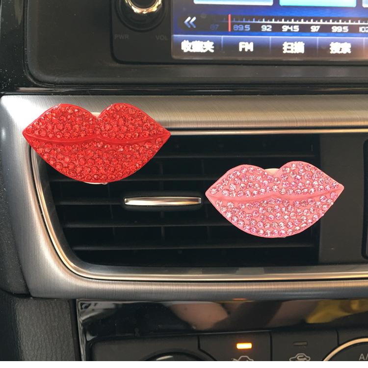 Modern Style Lip Design Clip-On Air Freshener for Cars