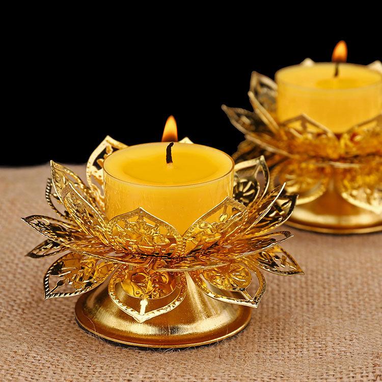 Bright Orange Candle Holder for Romantic Dates