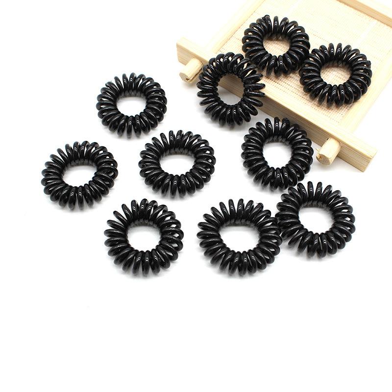 Basic Black Spiral Hair Tie