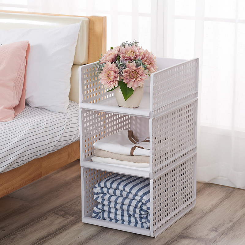 Stackable Plastic Rack for Kitchen and Home Use