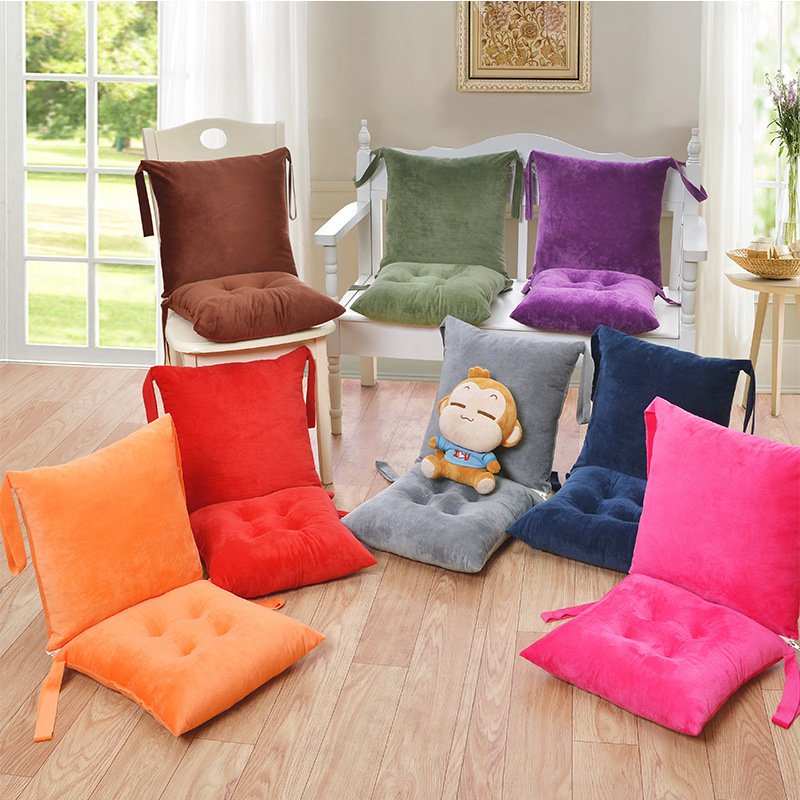 One Piece Back Support Cushion for Wooden and Plastic Chairs