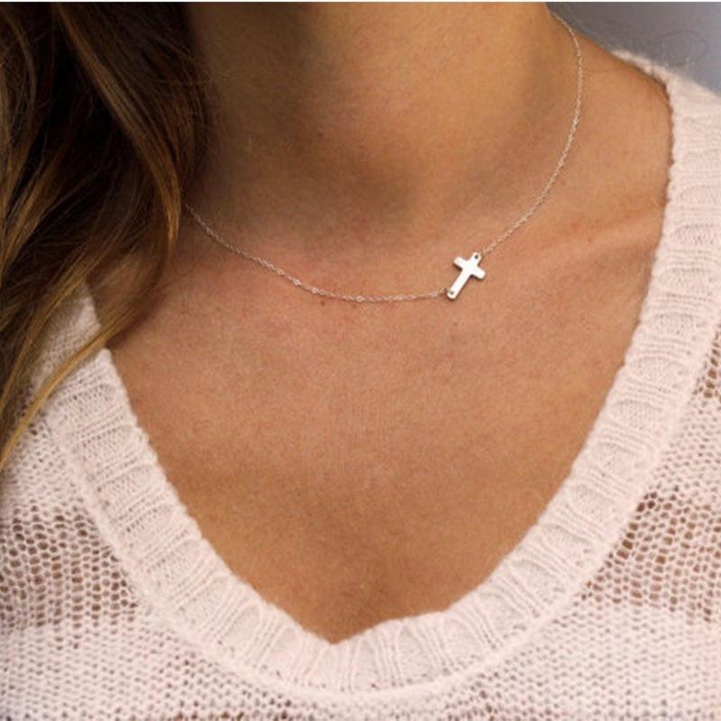 Tiny Cross Charm Choker
