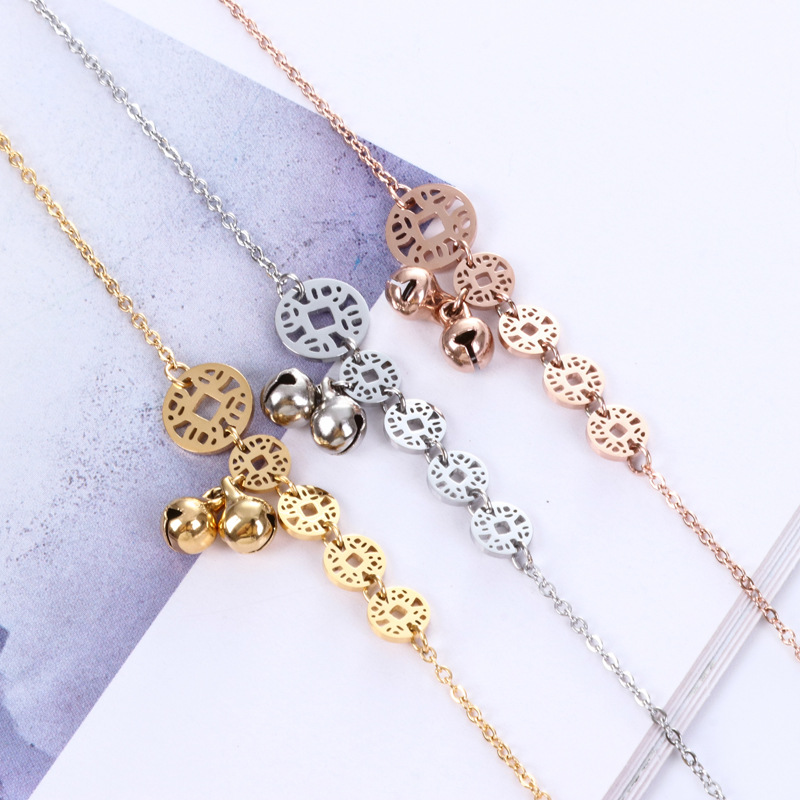 Bagua and Bell Charm Anklet