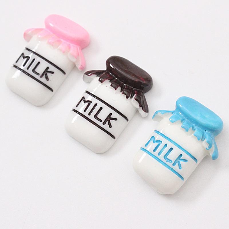 Fresh Milk Bottle Magnet for Cute Refrigerator Decors