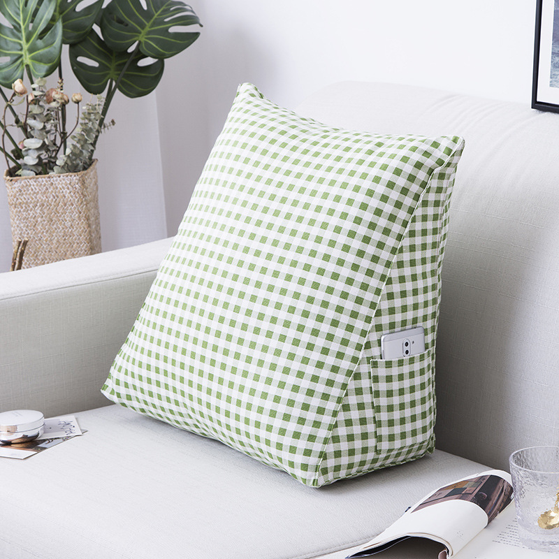 Printed Cotton Wedge Pillow for Resting