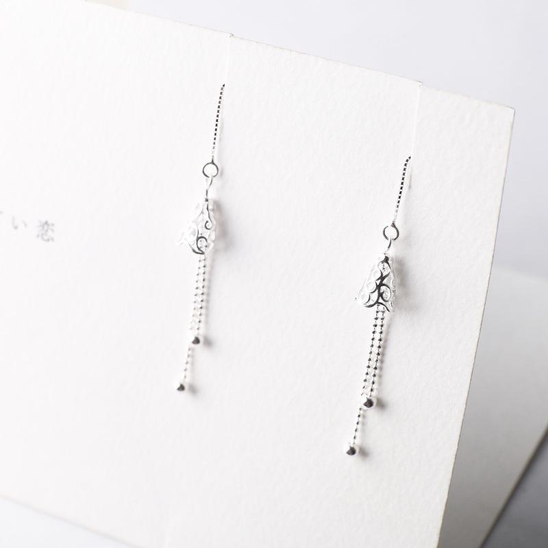 Wind Chime Silver Earrings