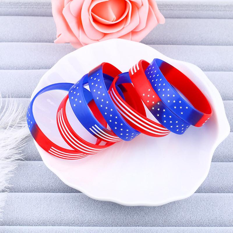 American Flag Silicone Bracelet