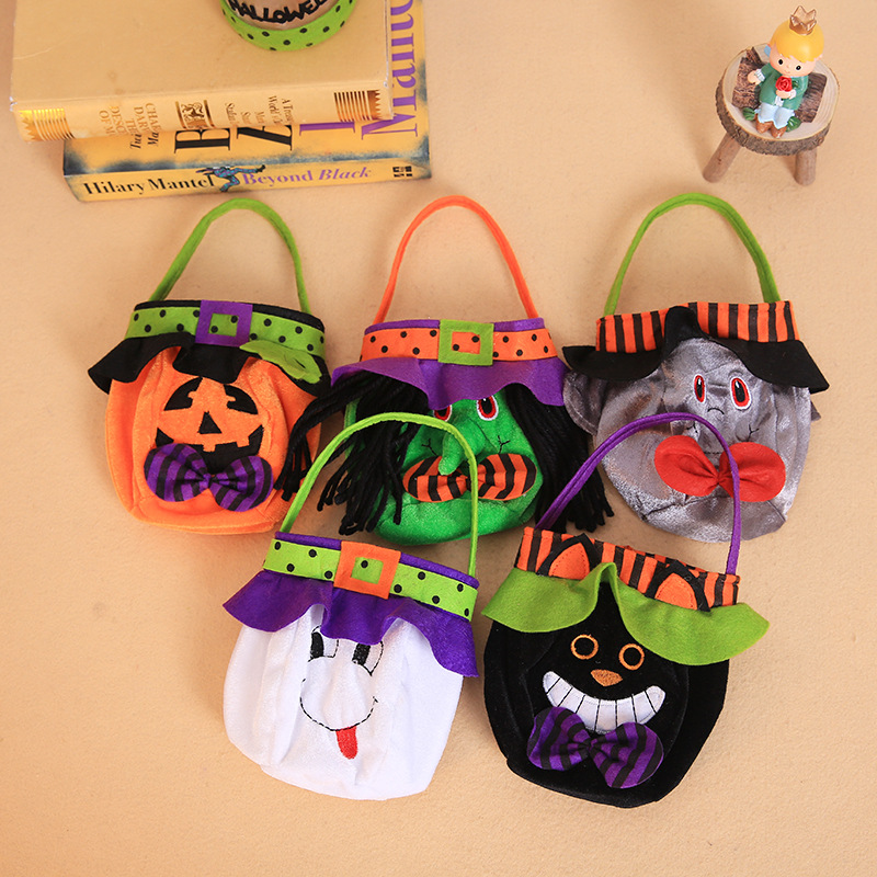 Spooky Character Head Tote Bags for Holloween