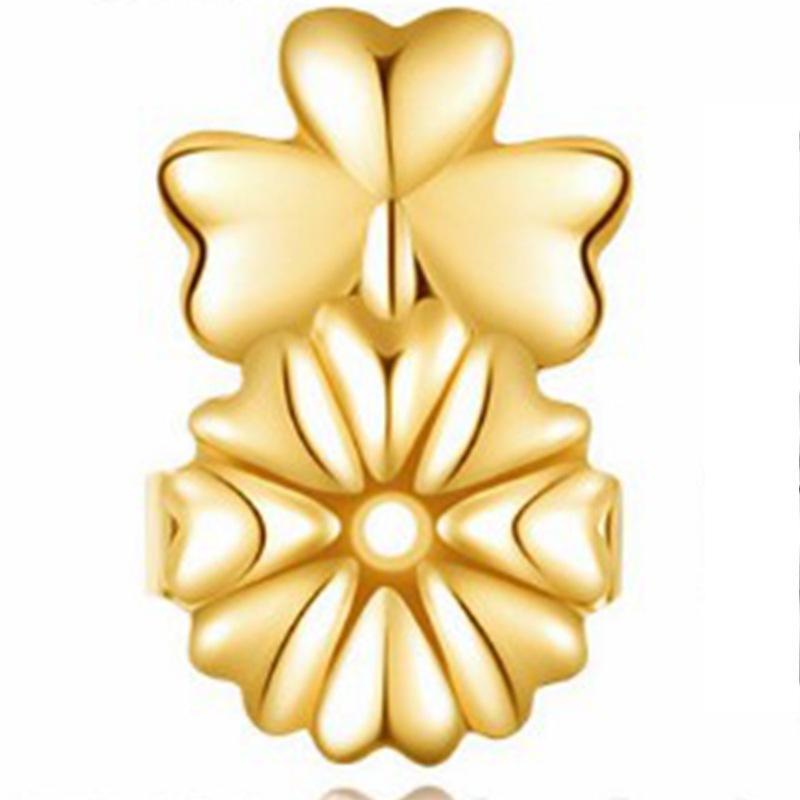 Heart and Copper Flower Earrings