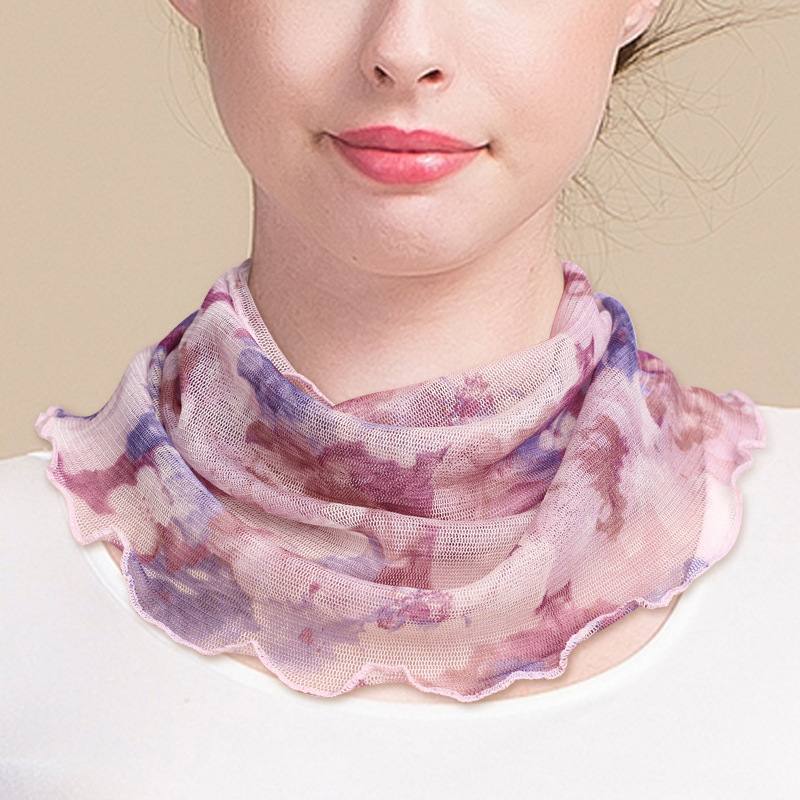 Chic Prints Round Scarf for Basic Blouses
