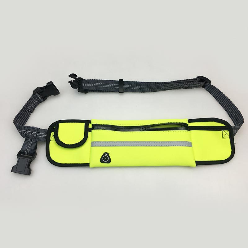 Sporty Neon Fanny Pack with Leash for Fitness Runs with Pets