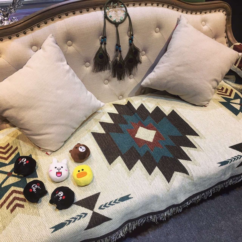 Bohemian Sofa Towel for Improving the Ambiance of Your Living Room