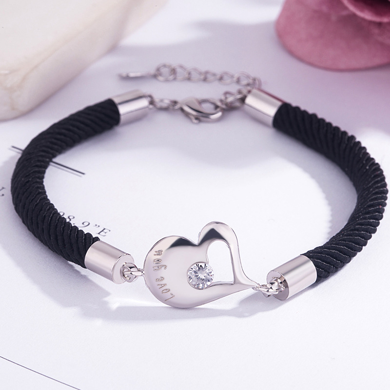 Love You and Miss You Couple Bracelet