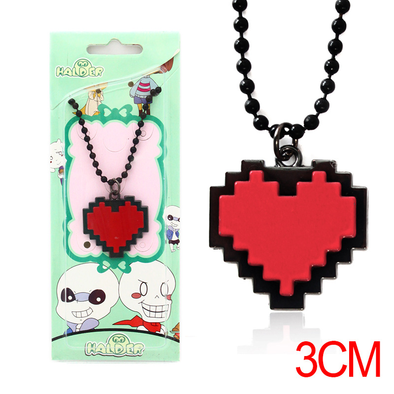Cute Heart-Shaped Necklace and Keychain for Personal Use
