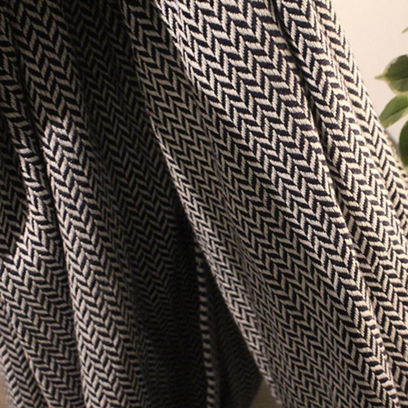 Wavy Stripes Black and White Throw Blanket