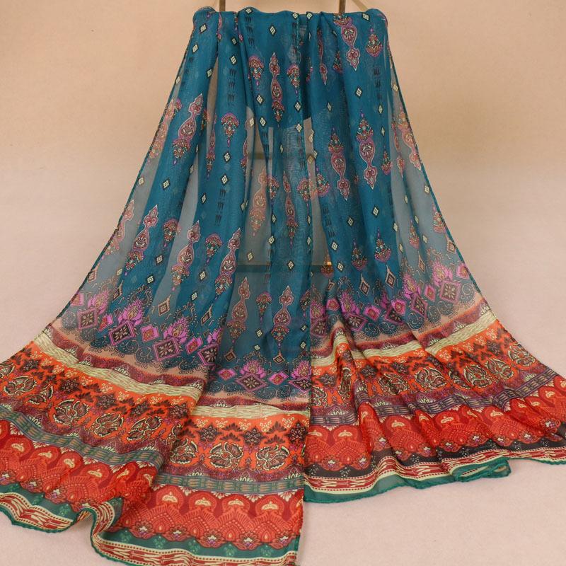 Bohemian Designed Soft Sheer Shawl for Boho Looks